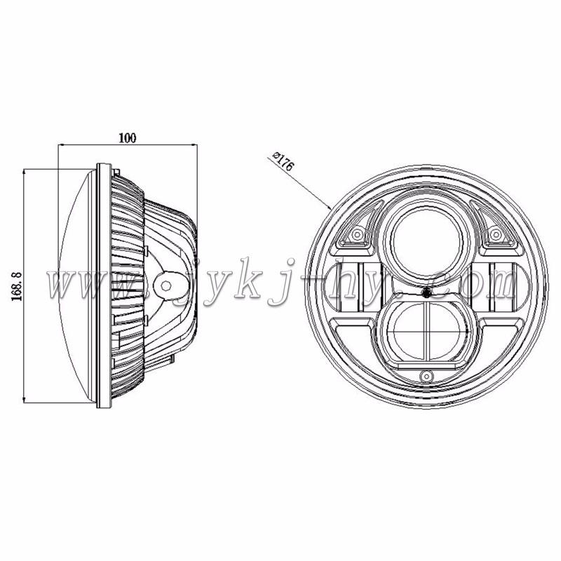 High Power Led Headlight 73w Car Accessories For Jk