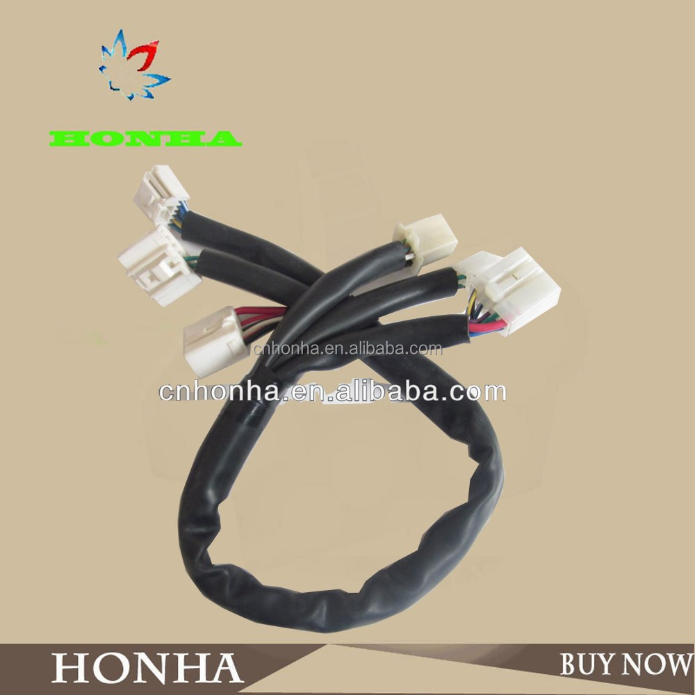 hight resolution of auto wiring harness for civic fog lights auto motorcycle electrical wire light lamp harness waterproof sleeve protection tube