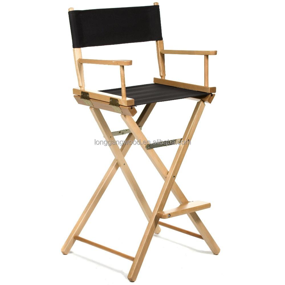 Wooden Canvas Folding Director Chair Outdoor Home Garden