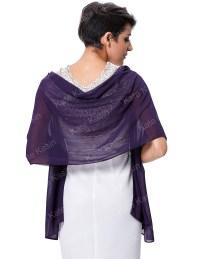"Stock 72*18"" Dark Purple Chiffon Shawl Scarf Wrap ..."