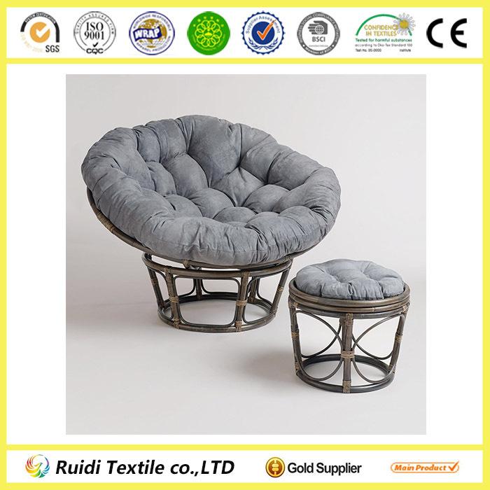 papa son chair convertable bed charcoal grey microsuede papasan cushion cover round stool - buy stool,cushion ...
