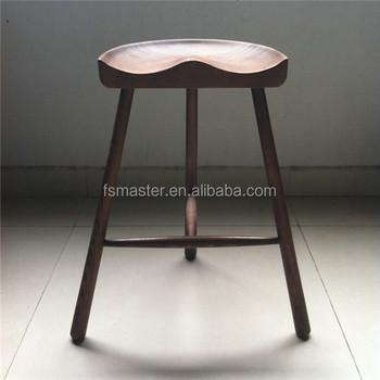 3 legged chair dining set of 2 modern style hip shape ash wood legs counter bar stool buy