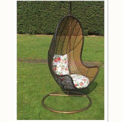 Hanging Chairs Garden Furniture Heavy Duty Chair Rattan Seat Patio Egg Swing Comfortable Cushion Relax
