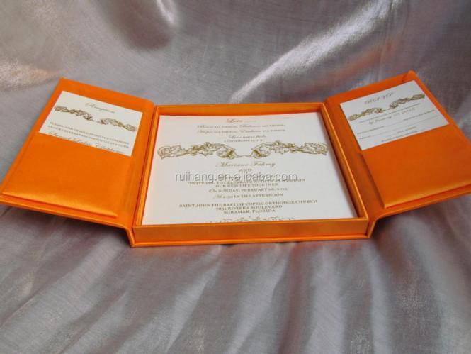 Silk Wedding Invitation Box White