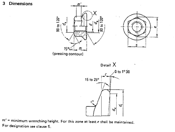Flange Nuts Metric Diameter Specifications