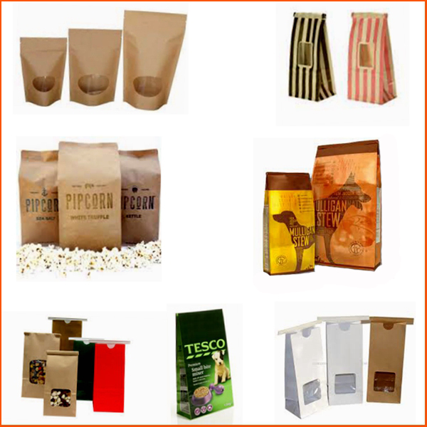 Food Safe Heat Seal Craft Paper Bag Tea Bag Packaging With