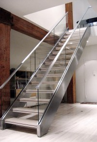 Double Side Stringer Stairs U Shaped Staircase L Shaped ...