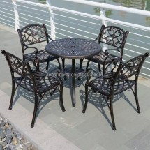 American French Style Cast Iron Metal Aluminum Dining