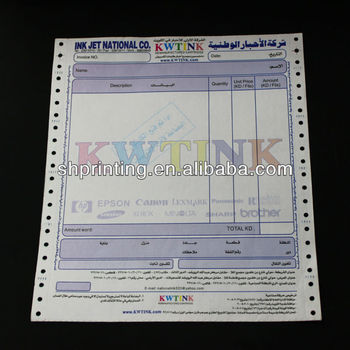 Sample Hotel Invoice Book Printing By Professional Paper Printing ...