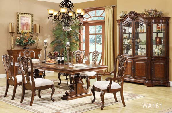 Cheap Wooden Carved Dining Table SetClassic Dining Room
