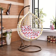 Hanging Chair From Ceiling Wicker Basket Outdoor Indoor Swing Rattan With Double Rope
