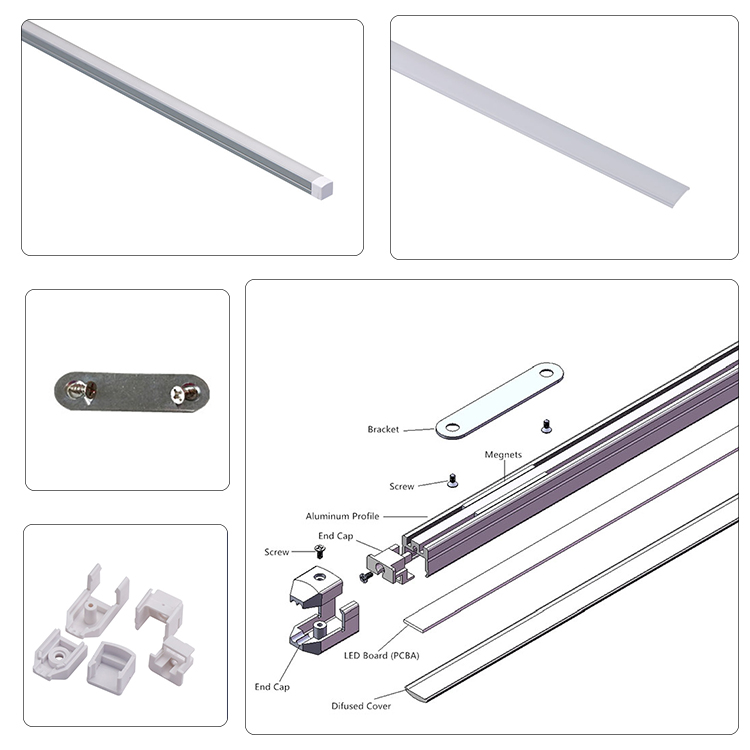 Good Quality 11*11 Led Profile Lighting Linear Cabinet