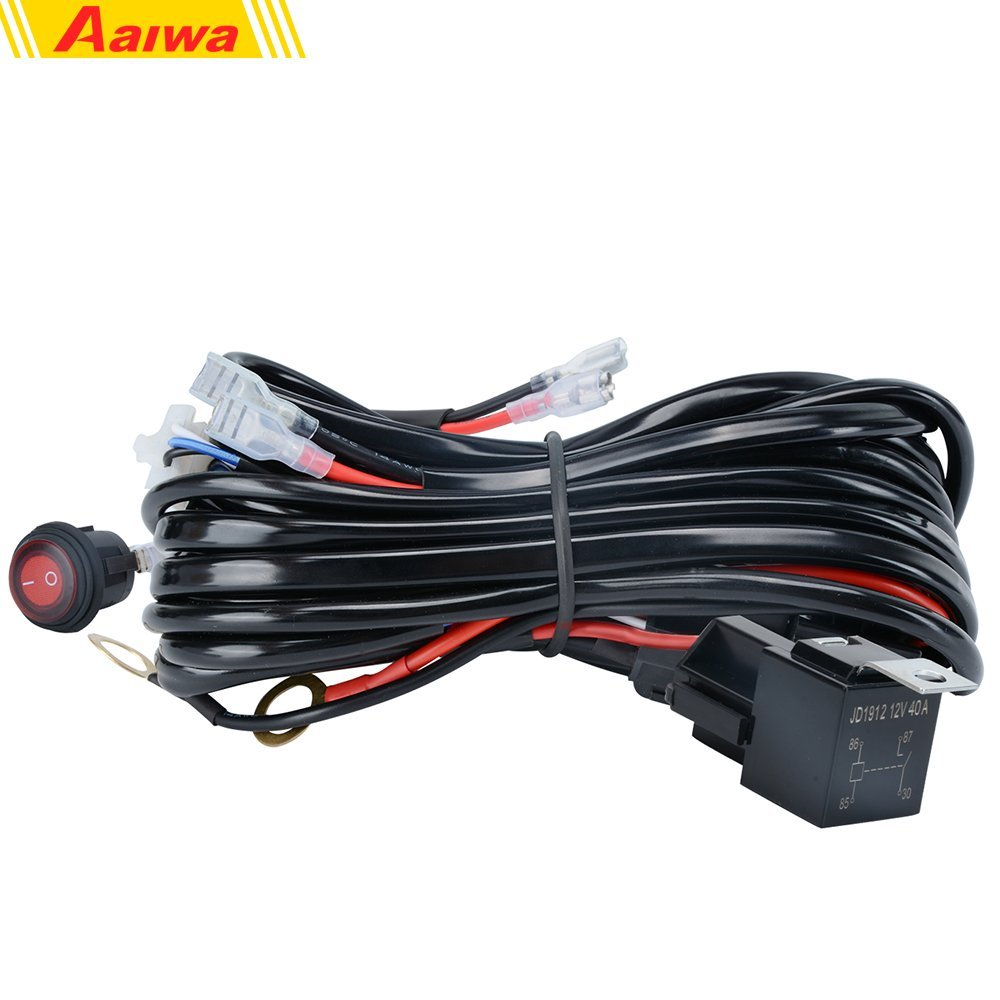 hight resolution of get quotations wiring harness aaiwa 12v 500w heavy duty wiring harness kit on off switch power relay