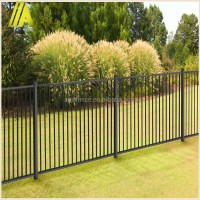 Powder Coating Backyard Black Aluminum Fence Panel
