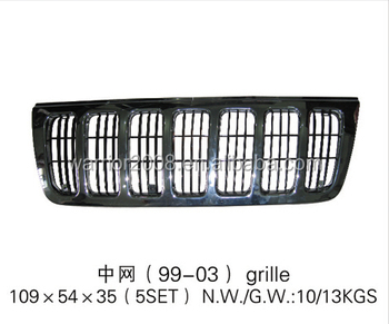 Wj Front Auto Grille Grill For 1999-2003 Jeep Grand