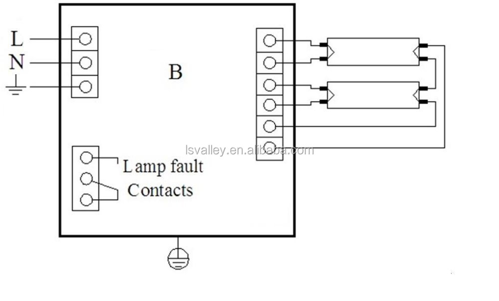 2 lamp t5 ballast wiring diagram