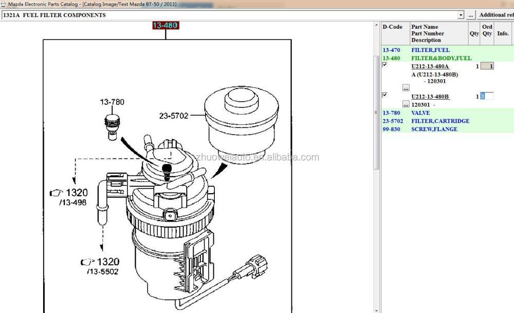 medium resolution of new arrival diesel fuel filter assy for ranger ab399155dd mazda bt50 u212 13 480