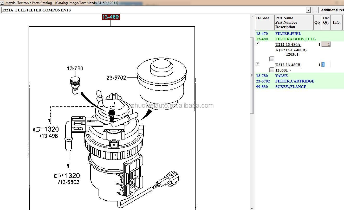 hight resolution of new arrival diesel fuel filter assy for ranger ab399155dd mazda bt50 u212 13 480
