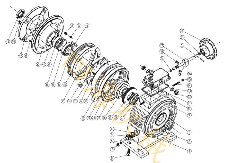 Ud4.0 Series Cast Iron Stepless Speed Variator,Planetary
