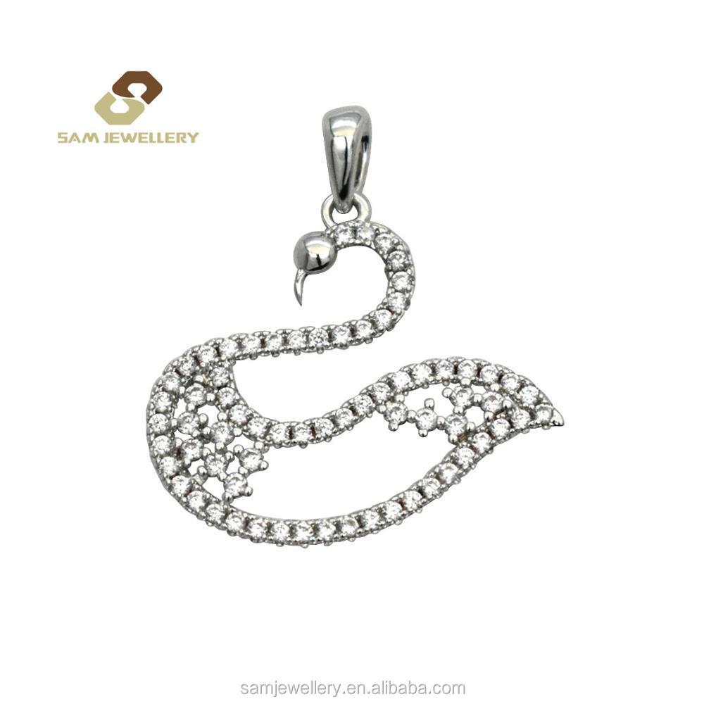 Leisure Design Sterling 925 Silver Swan Black Zircon