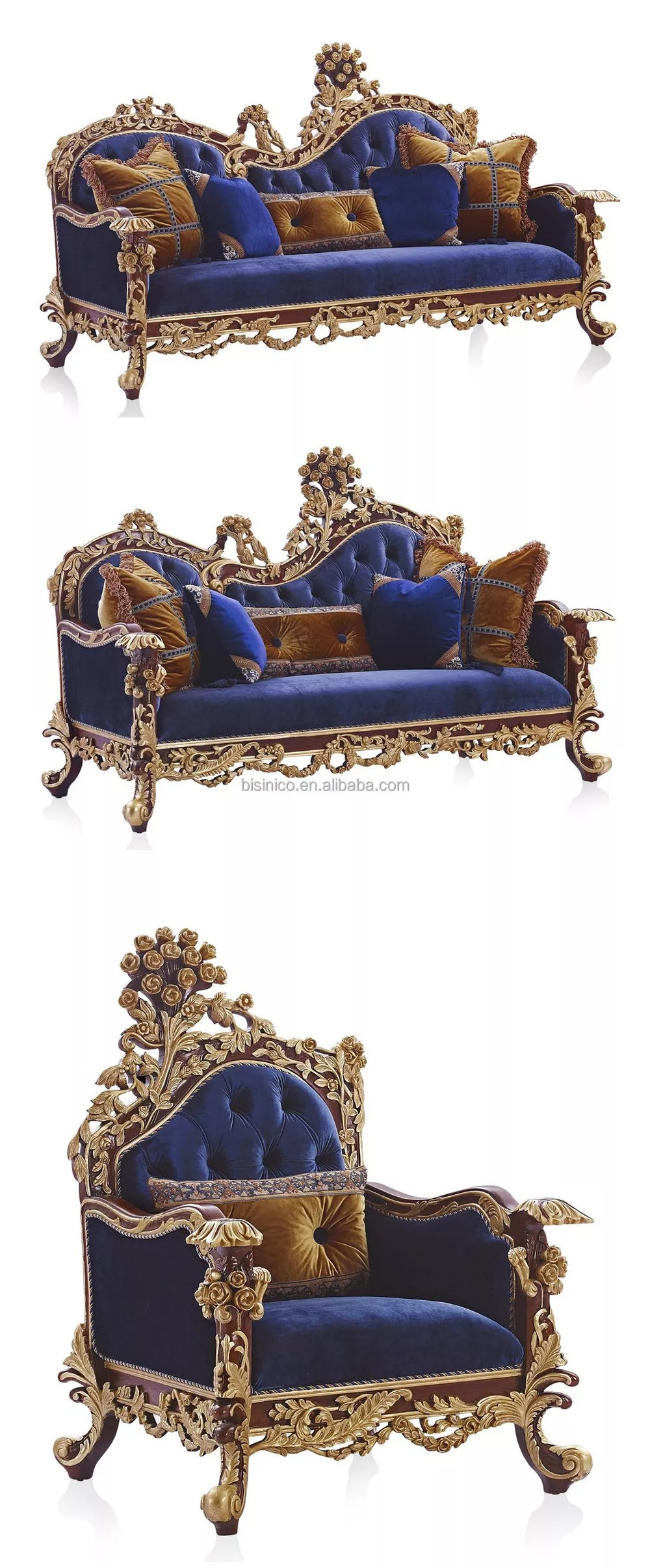 Baroque Style Living Room Sofa Set Retro Wood Carving Living Room Furniture Whole Set Gold Leaf Palace Furniture Buy Living Room Wooden Sofa