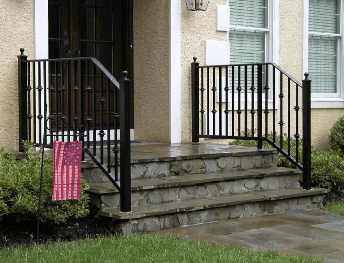Outdoor Used Wrought Iron Stair Railing Wholesale Price