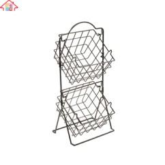 Kitchen Wire Storage Pendant Lighting Lowes Rack 2 Tier Fruit Vegetable Basket Organizer Buy Product On Alibaba Com