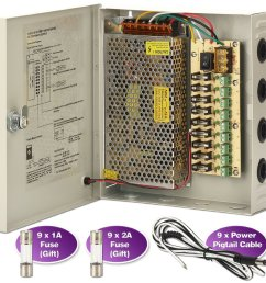 get quotations cctv power supply box zoter 9 port channel 15a distribution metal fuse ac 110  [ 1500 x 1500 Pixel ]