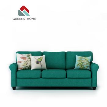 5 seater sofa set cover luxury modern sets queenshome 2018 3 cream velvet soft dfs dark green fabric