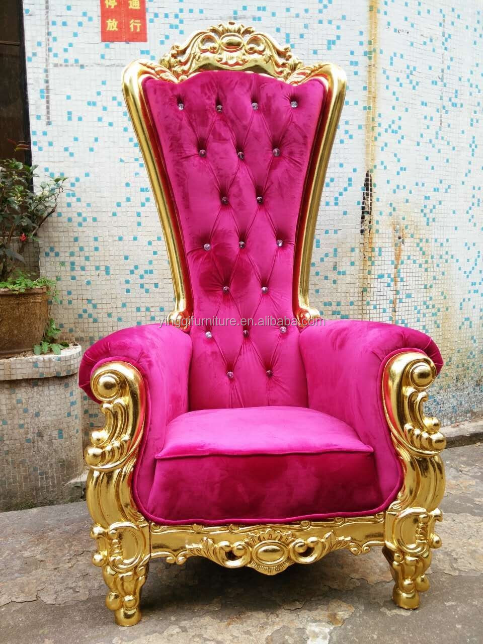 High Back Wedding King And Queen Throne Chairs  Buy King