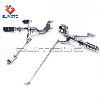 Steel Motorcycle Footrest Foot Pegs Forward Controls Kit