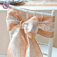 Burlap Chair Covers For Sale Small Table And Set Bs00041 Hot Cheap Decoration Wedding Lace Cover Sashes