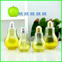Lamp Bulb Shape Glass Perfume Bottle,Lamp Juice Bottle ...