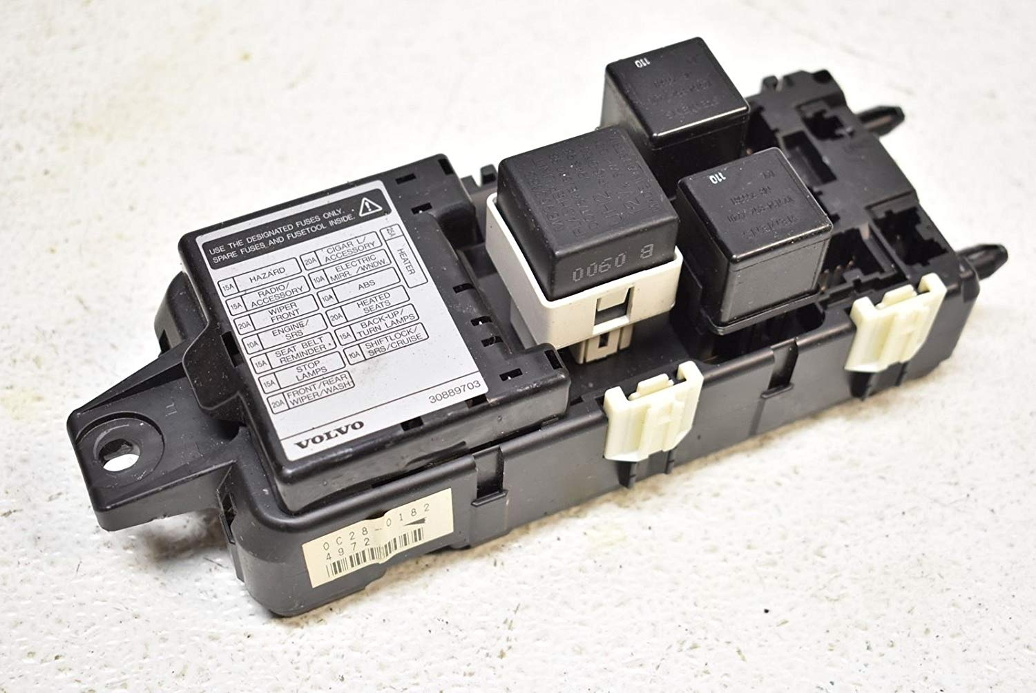 hight resolution of get quotations 00 04 volvo s40 under dash fuse box relay 2000 2004
