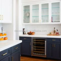 Shaker Kitchen Cabinets Stainless Steel Carts Modern Navy Blue Cabinet Cupboard For Sale Buy
