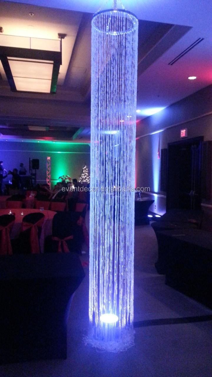 Decorative Iridescent Acrylic Chandelier ColumnHanging