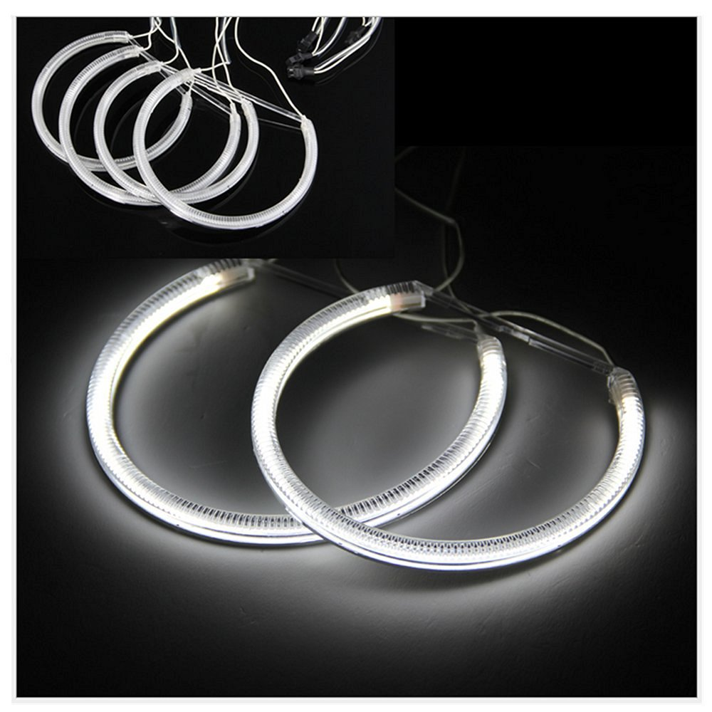 hight resolution of get quotations dlll 4 x ccfl angel eyes light headlight halo ring light lamp non projector model