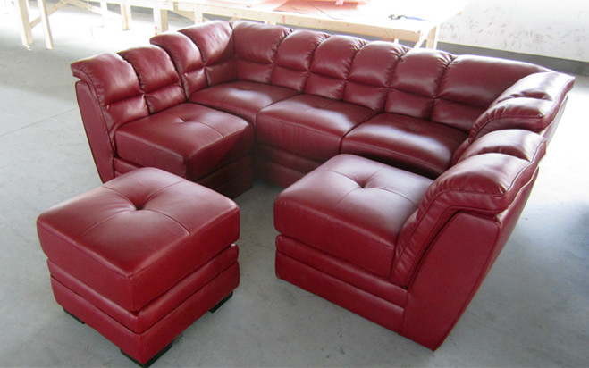 cheap leather sectional sofa memory foam sofas red l-shaped half round ...