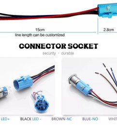 electrical momentary 16mm car motor horn anti vandal push button switch with 12v 24v led [ 2000 x 1483 Pixel ]