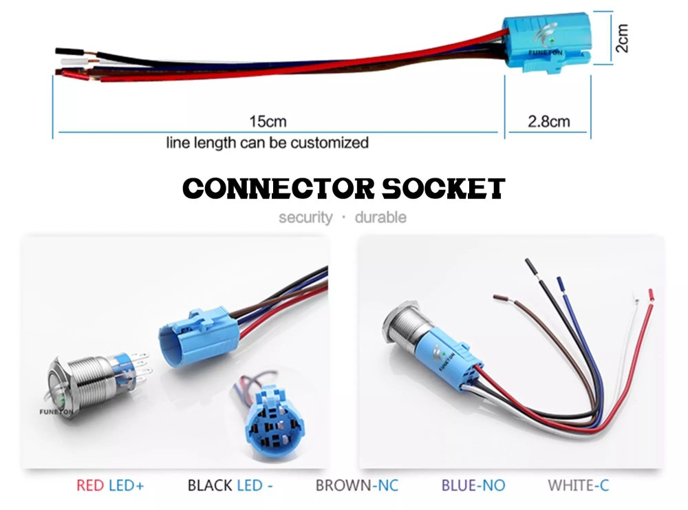 medium resolution of electrical momentary 16mm car motor horn anti vandal push button switch with 12v 24v led