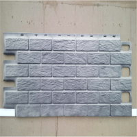 Faux Stone Brick Exterior Wall Panel Plastic Wall Siding