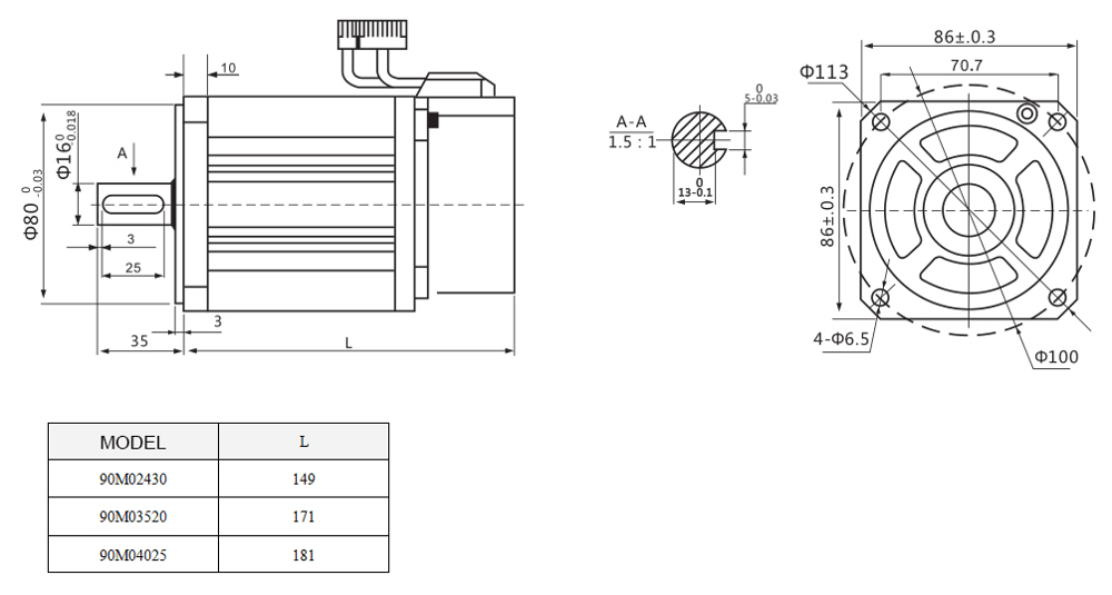 Lichuan 90 Series Lcmt07m02nb-90m03520b 750w 220v Ac Servo