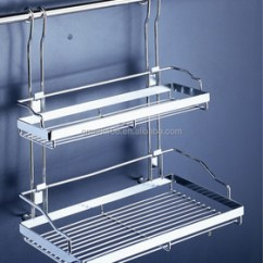 Kitchen Wire Storage Bar Stools Ikea Metal Wall Mounted Detachable Hanging Double Spice Rack Utensil Prices