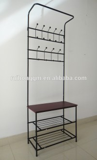 Entry Way Hall Tree Bench Hook Coat Hanger Stand Shoe ...