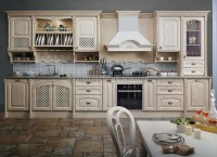 European Style Wood Kitchen Cabinet,Vintage Kitchen ...