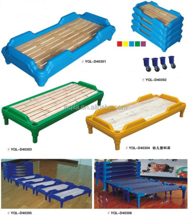 New Design School Kid Folding Bed Preschool Furniture Kids Wood For