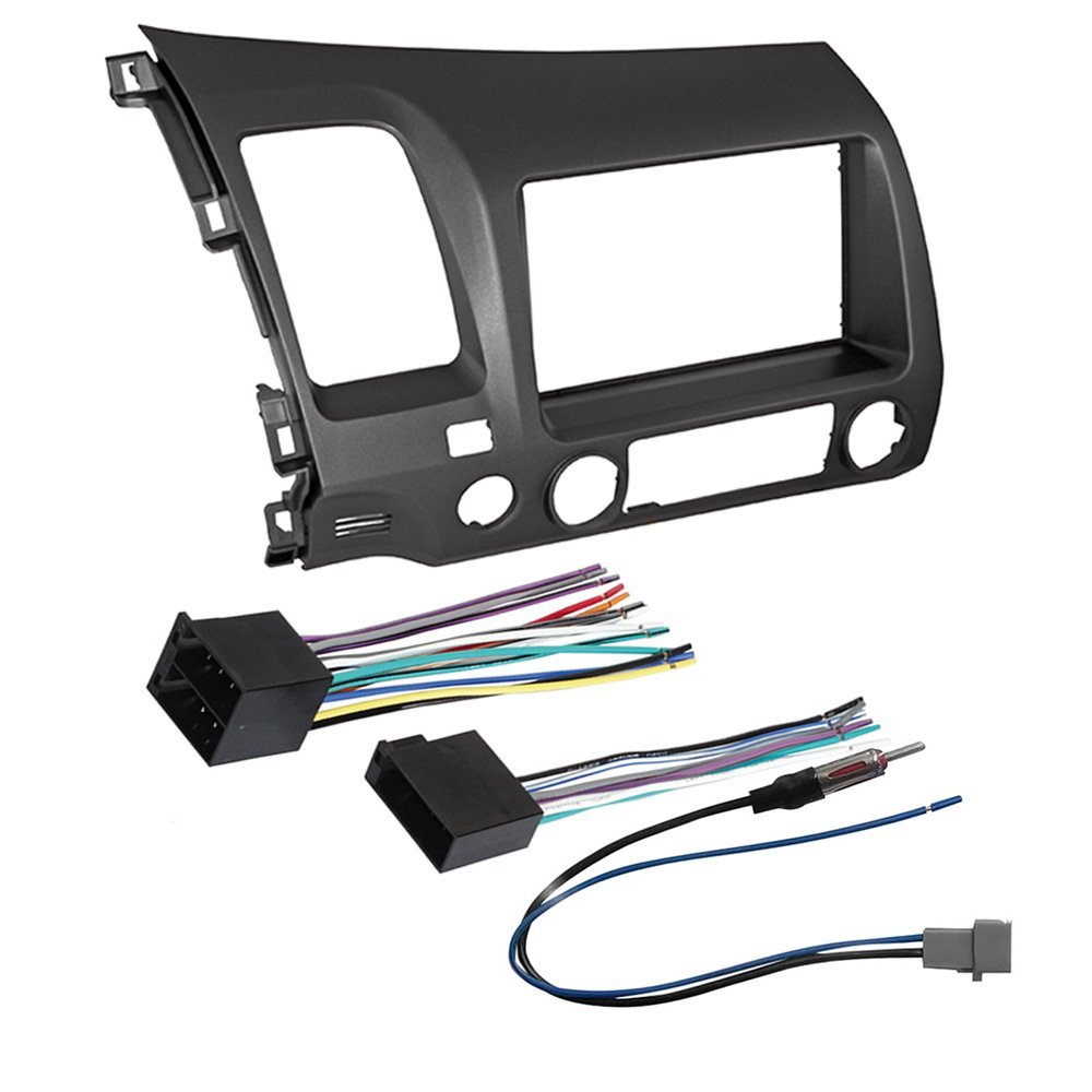 hight resolution of get quotations car stereo radio dash installation mounting kit wiring harness radio antenna adapter for select honda