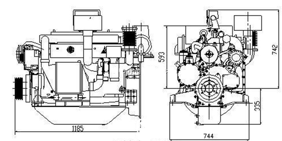 Top Quality ! Weichai Duetz Marine Engine With Gearbox