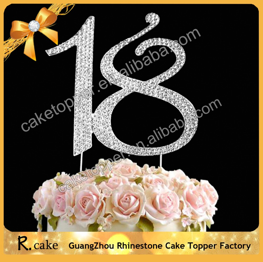 Wholesale Birthday Party Supplies Numbers Cake Topper For