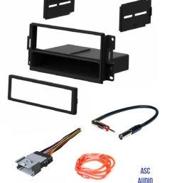 get quotations asc audio car stereo radio dash install kit wire harness and antenna adapter to [ 1200 x 1541 Pixel ]